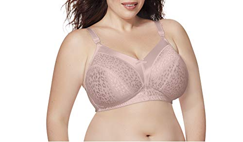 Just My Size Women's Satin Stretch Wirefree Bra MJ1960, Rosewood, 46DD