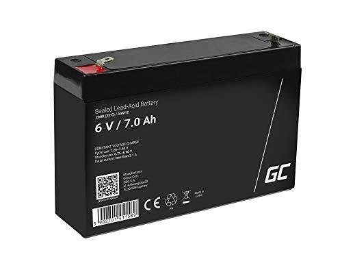 Akku Bleiakku Gel AGM 6V 7Ah Green Cell Akkubatterie für USV Bleigel Akku Sealed Lead-Acid Batterie VRLA Zyklenfest Alarmzentrale Spielzeug Sicherheitsbeleuchtung Fiskalkasse Sicherheitssysteme
