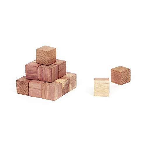 Compactor Cedar Lot 16 x Cubes antimites en cèdre naturel, Marron, 2 x 2 x H 2 cm, CED023