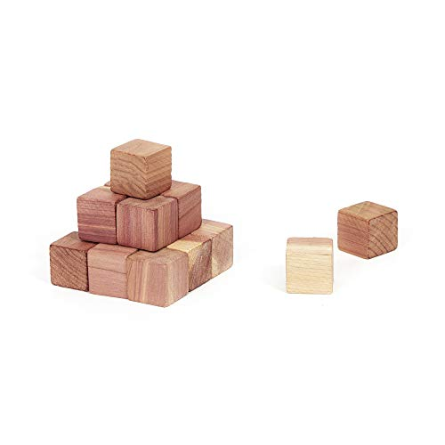 Compactor CED023 Lot De 16 Cubes En Cèdre Naturel
