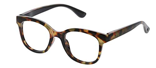 Peepers by PeeperSpecs Women's Grandview Focus Round Blue Light Filtering Reading Glasses, Tortoise, 50 mm + 1.5