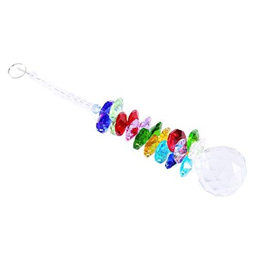 Colorful Rainbow Maker Kristall Kugel Anhänger Suncatcher zum Aufhängen Kronleuchter Ball Prism Rainbow OCTOGON Chakra Sonnenfänger Pendel Decor Ornaments für Geschenk