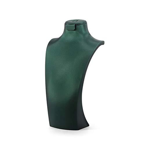 CHQY Soporte de exhibición de la joyería, Modelo de Cuero de la Cadena Colgante del Colgante del Cuello, Accesorios de exhibición Premium para el Pendiente/Anillo, Vent Green-Small