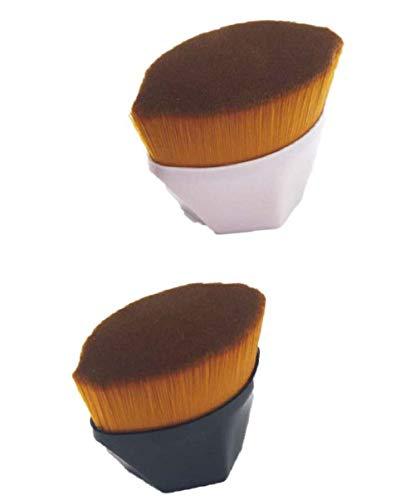 2 Pcs Flawless Wand Foundation Brush,High-Density Seamless Foundation Brush BB Cream Makeup Brushes Loose Powder (Combinaison)