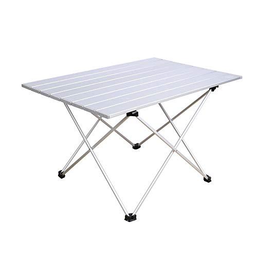 FIONAT Table de Camping Pliante en Aluminium Petit Léger Table de Pliable Pliante Camping avec Sac de Transport pour extérieur Pique-Nique/BBQ/fête de Jardin/Coffre de Voiture Self-Driving Tour