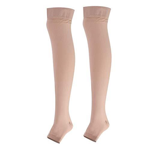 Compressiekousen, antislip siliconenrand Open teen schokabsorptie Elastische kous met een sokken Helper dragen, comfortabel om te dragen