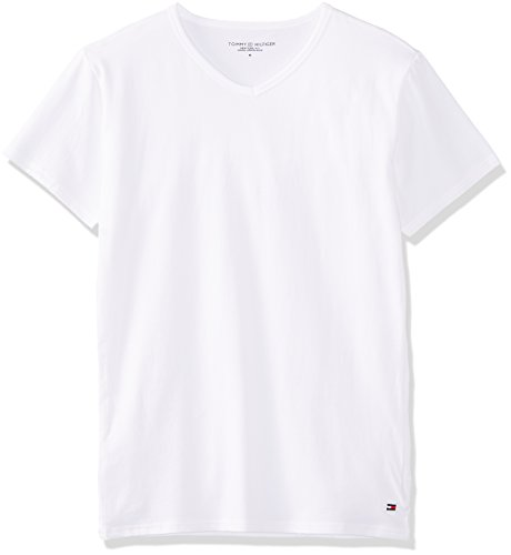 Tommy Hilfiger Herren V-Neck ss 3 Pack Premium Essentials T-Shirt, Mehrfarbig-Multicolore (Black/Grey Heather Bc05/White), Large (3er Pack)