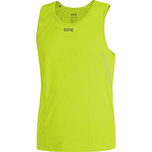 GORE WEAR R5 Camiseta de running sin mangas para hombre, Talla: XXL, Color: Verde