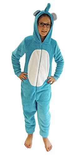 Mädchen Jumpsuit Overall Onesie Schlafanzug in niedlichen Tier Motiven - 291 467 97 606, Größe:140, Farbe:Elefant