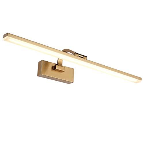 KOKOF Lámpara de espejo LED frontal para espejo de baño, lámpara de espejo LED de acrílico, lámpara de pared para espejo de baño, lámpara de maquillaje sencilla resistente a la humedad, 51 cm, 12 W