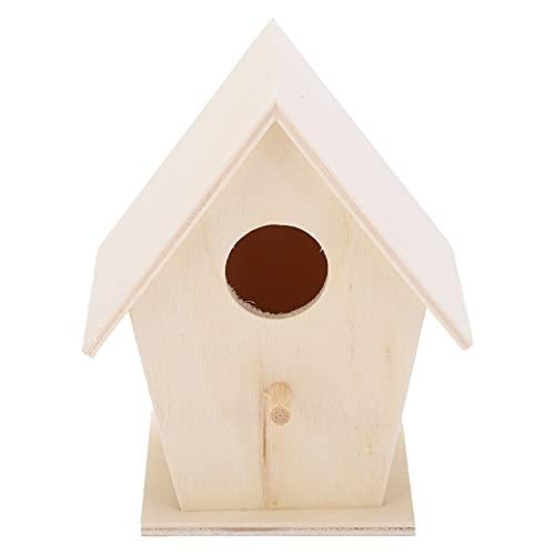 Faceuer Casas De Pájaros De Bricolaje, Casas De Pájaros Casa De Pájaros para Jardines Suministros De Artesanía para Pájaros para Jardines Interiores Exteriores, Patios(Default)