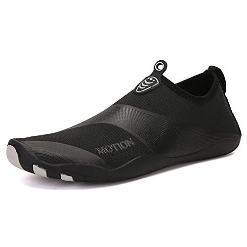 Zapatos De Agua Playa Seco Rápido Skand Swim Sket For Diving Surf Pool Beach Yoga Walkling Correr(Size:44,Color:Negro)