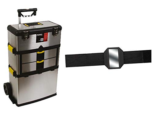 Hoogwaardige gereedschapstrolley van roestvrij staal + Easy Work magneetarmband.