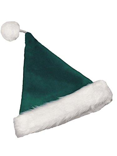 Halco - Velvet Santa Hat, Green, One Size