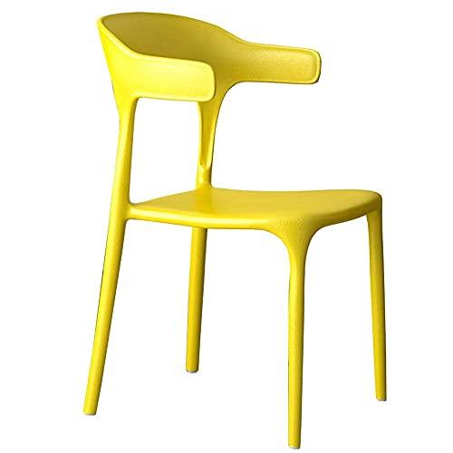 WSDSX Stuhl Modernes Design Esszimmerstühle Ergonomisches Design Esszimmer Plastikstühle Mit Armlehnen Für Office Lounge Loungesessel Stapelbar Lagergewicht 120 kg 51x48x77cm (Farbe: Schwarz)
