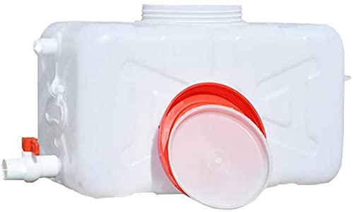 WXking Cubo de Almacenamiento de Agua de Gran Capacidad, contenedor de Almacenamiento de Agua de plástico al Aire Libre con Tapa y Grifo, Cubo de Agua Industrial Resistente a la corrosión portátil