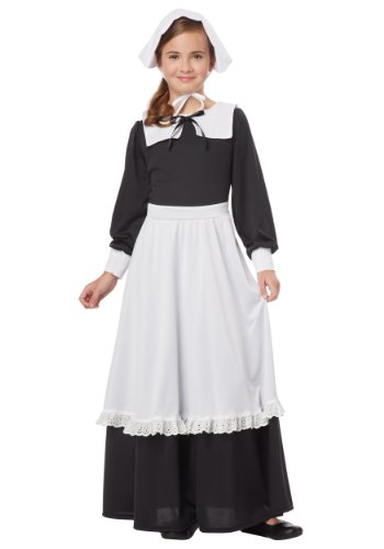 Pilgrim Girl Costume Large (10-12)