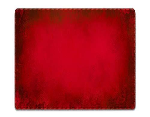 Silent Monsters Mauspad Größe S (240 x 200 mm) Stoff Mousepad Design: rot, Vernähter Rand, geeignet für Büro und Gaming Maus