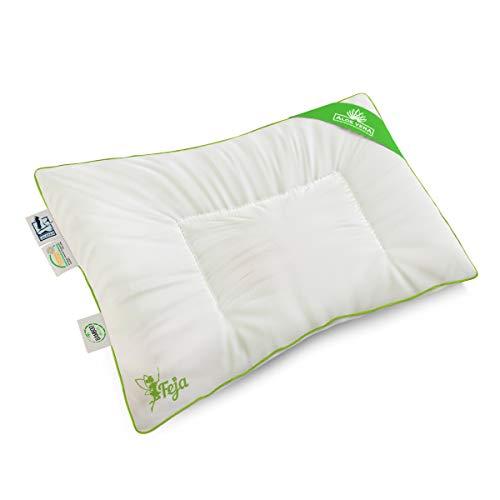 feja by lelekka® Premium Coussin bébé/40 x 60 cm Housse de coussin plat avec garnissage en bambou & Aloe Vera pour peaux sensibles