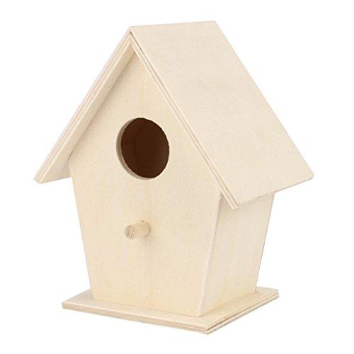 erthome Vogelhaus, Nest Box Nest House Vogelhaus Vogel Box Holzkiste (A (12x9.5cm))