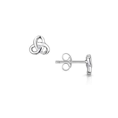 Amberta Echt 925 Sterling Silber - Ohrringe Triangel - Schmuck für Damen - Trinity Symbole