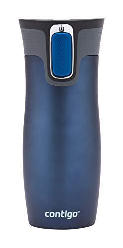 Contigo Thermobecher West Loop Autoseal, Edelstahl Isolierbecher, Reisebecher, Kaffebecher To Go, auslaufsicher, 100% dicht, hält bis zu 5h heiß/12h kalt, 470 ml, BPA frei, Monaco