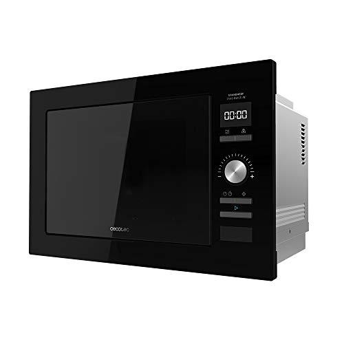 Cecotec Microondas encastrable Digital GrandHeat 2590 Built-In Black. 900 W, Integrable, 25 Litros, Táctil, Grill 1000 W, 8 Funciones preconfiguradas, Temporizador