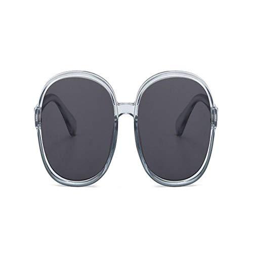 Gafas De Sol Polarizadas Gafas De Sol Redondas De Gran Tamaño para Mujer, Nueva Marca Moda, Gafas De Sol para Hombre Y Mujer, Gafas De Sol, Uv400, Transparente, G
