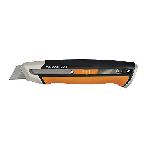 Fiskars 770220-1001 Pro Utility Knife, Snap 25 mm, Orange/Black