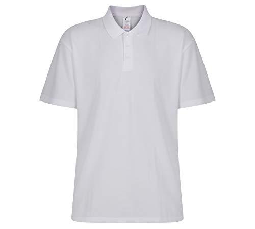 Trutex Polo Maglietta, Bianco (White), 7-8 Anni Bambini e Ragazzi