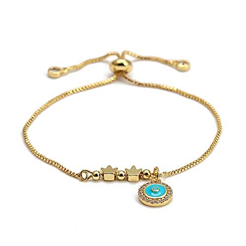 YFZCLYZAXET Pulseras Brazalete Joyería Mujer Moda Casual Charm Bracelet Pulsera Ajustable Gold Fashion Jewelry Lady-1