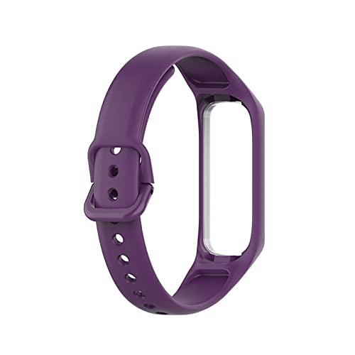 Correas de banda deportiva de silicona suave para Samsung Galaxy Fit 2 SM-R220 Pulsera de reemplazo de la banda de reemplazo, para mujeres hombres clásico a prueba de agua reloj de reloj de reloj de r