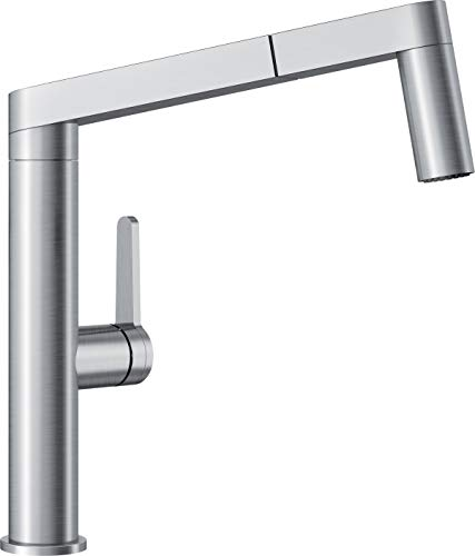 BLANCO, Stainless 402043 PANERA Pull-Out Dual Spray Kitchen Faucet with Scratch Resistant Finish, 1.5 GPM