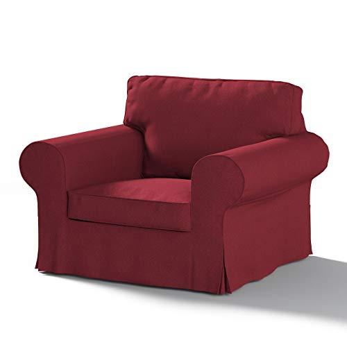 Dekoria Ektorp Sesselbezug Sofahusse passend für IKEA Modell Ektorp Bordeaux