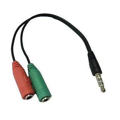 QAZSE 3,5 MM stereo-4-positie stekker op 3,5 MM microfoon & hoofdtelefoon aansluiting voor iPhone audio-adapter