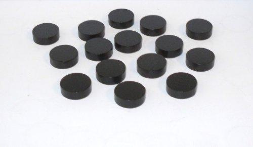 100 Spielchips , Roulette Spielmarken , Zählchips aus Holz , schwarz , 21mm x 7mm
