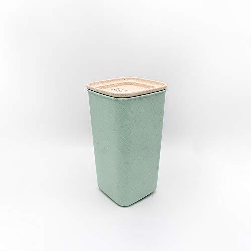 Avoidwaste Nachhaltige Vorratsdose - Die Frischhaltedose gefertigt mit Weizenstroh - Aufbewahrungsbox, perfekt für das Unverpackt Einkaufen oder auch als Lunchbox (1650 ml)