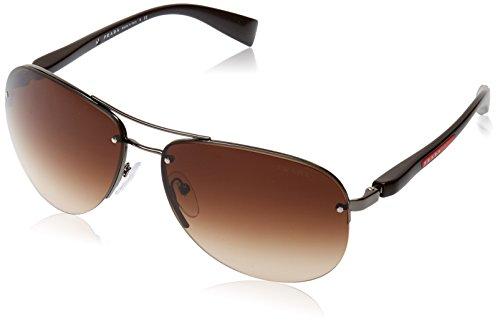 Prada SPORT Herren 0PS56MS 5AV6S1 65 Sonnenbrille, Grau (Gunmetal/Brown Gradient)