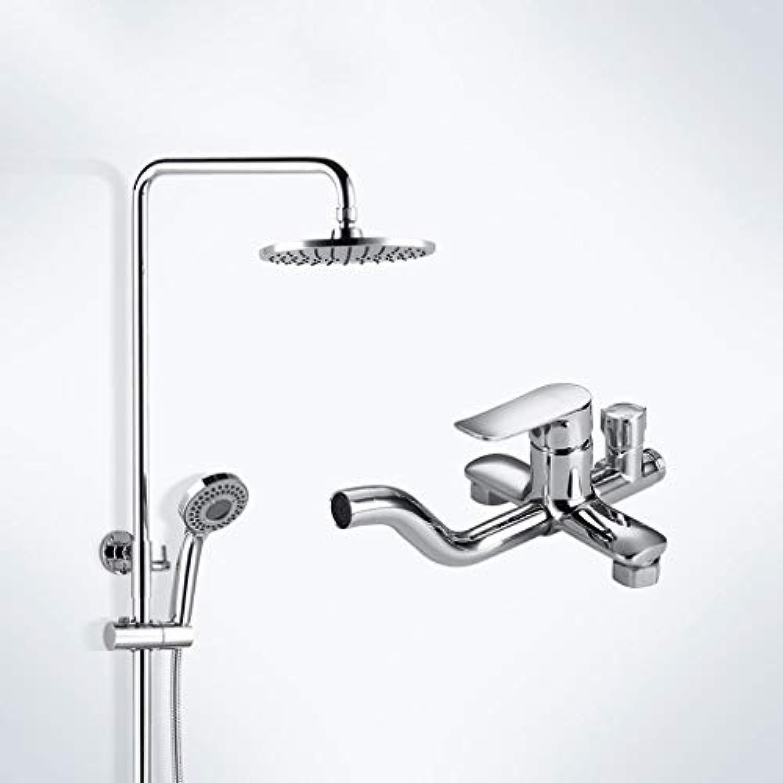 WXL Dusche Set Kupfer Voll Wasser Mischventil Wasserhahn Bad Supercharged Duschkopf Dusche V