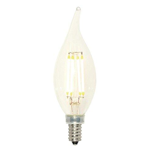 Westinghouse 3517200 - Bombilla LED de filamento regulable, 40 W, equivalente a CA11, con base de candelabro, transparente