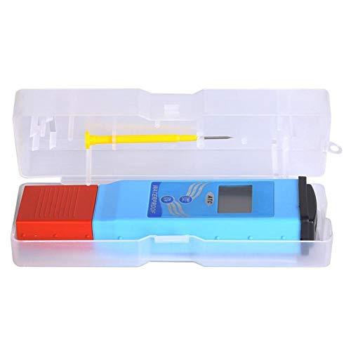 Mothinessto Medidor de pH Prueba de Calidad del Agua Probador Profesional de pH/Temperatura Compensación automática de Temperatura Impermeable con Pantalla LCD de Doble Nivel para acuarios Spas