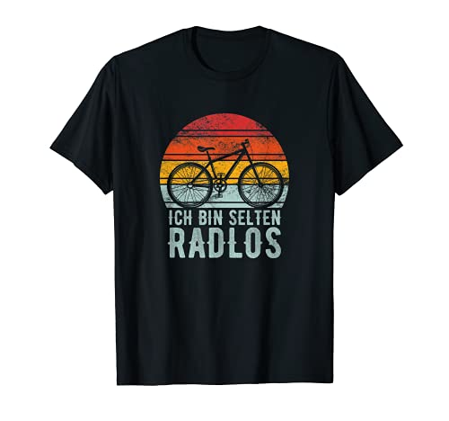 Ich Bin Selten Radlos Fahrrad Radfahren Mountainbike T-Shirt
