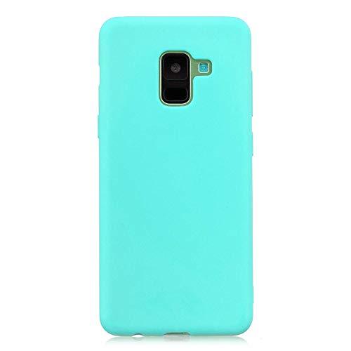 cuzz Coque Samsung Galaxy A8 2018+{1 Pièces Protège Écran en Verre Trempé}Couleur Unie Premium Flexible Souple Silicone TPU Etui Mince Ultra-Lumière Anti-dérapante {Or}