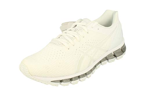 Asics Gel-Quantum 360 Knit Hombre Running Trainers T728N Sneakers Zapatos (UK 12 US 13 EU 48, White Snow Silver 0100)