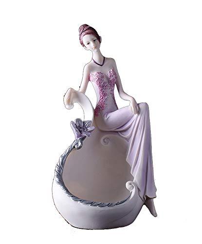 sknonrk Beauty Ornament Jewelry Storage Box Makeup Mirror Birthday Wedding Gift (Color : Jewelry box)