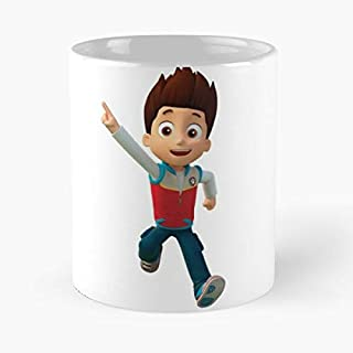 Paw Patrol Ryder Classic Mug - The Funny Coffee Mugs For Halloween, Holiday, Christmas Party Decoration 11 Ounce White Jamestrond.