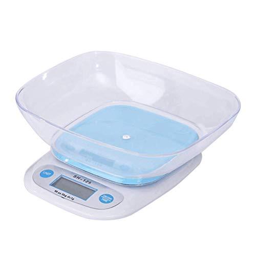Elektronische Waage Multifunktionale Digitale Küchen-Lebensmittelwaage 5 kg / 1 g Messung der hochpräzisen Lebensmittelbackwaage mit Tablett - ohne Teig