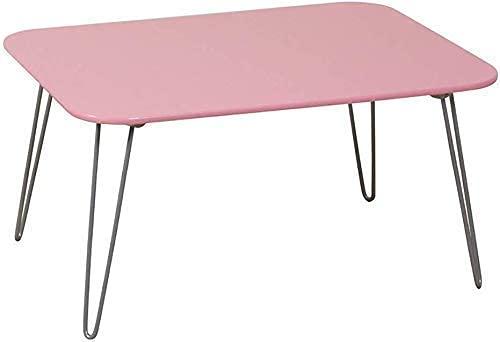 Klappstuhl Klapptisch Tisch Klappcomputertisch Multifunktionscamping im Freien Kleiner Tisch Lesen Lernen Klapptisch 60X45X31 cm, Pink (Colo