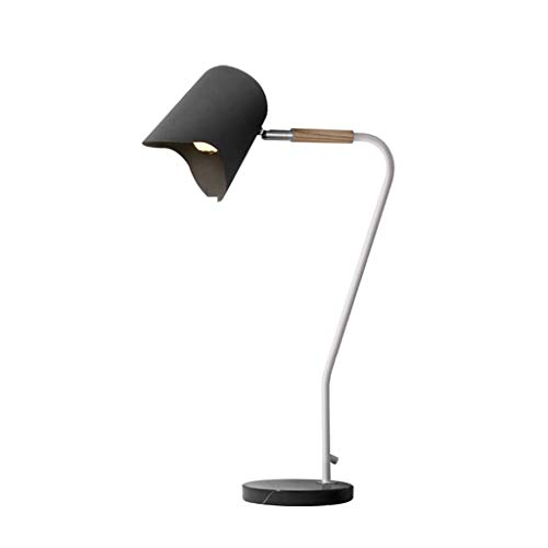 Home Improvement/Lighting & Ceiling Fans/Lamp Table Lamp Black Table Lamp Simple Modern Vertical Bedroom Table Lamp Creative Personality Wrought Iron Study Table Lamp Best Gift