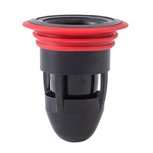 MINGSTORE Baño Ducha Piso Colador Cubierta Tapón Trampa Sifón Fregadero Cocina Baño Filtro de Drenaje de Agua Prevención de Insectos Desodorante-Negro